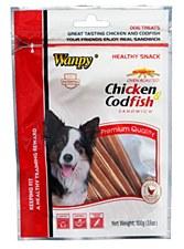 Wanpy Chicken Jerky & Codfish Sandwich 100g Dog Treats