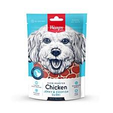 Wanpy Chicken Jerky & Codfish Sushi 100g Dog Treats