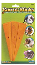 Critter Ware Carrot Sticks Small Pet Treats (3 Pack)