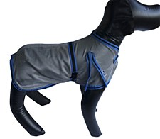 Wild Dogz Dog Coat Mesh Insect Control Silver & Blue Medium