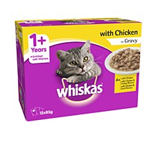 Whiskas Cat Chicken in Gravy Pouches 12x85g Wet Cat Food