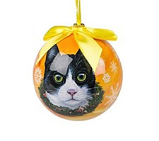 Swish Collection Christmas Bauble Black & White Cat