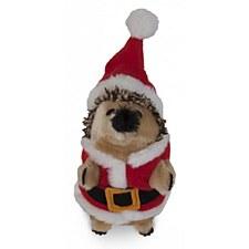 Petmate Holiday Heggie Santa Plush Christmas Dog Toy