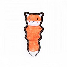 ZippyPaws Storybook Skinny Peltz Fox Plush Dog Toy