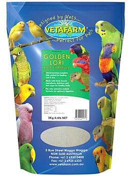 Vetafarm Golden Lori Rice Formula 2kg Bird Food