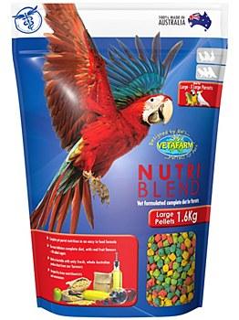 Vetafarm Nutri Blend Large Pellets 1.6kg Bird Food