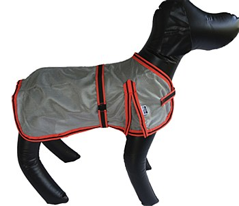 Wild Dogz Dog Coat Mesh Insect Control Silver & Red XXLarge