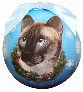 Swish Collection Christmas Bauble Siamese Cat