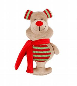 K9 Homes Plush Bear Christmas Dog Toy