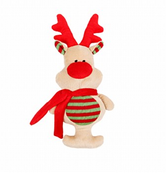 K9 Homes Plush Reindeer Christmas Dog Toy