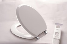 Toilet Seat White Wood RSA