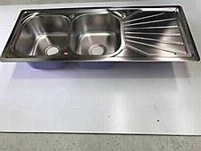 Sink Kitchen Steel DB ST 1.2m