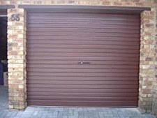 Roller Shutter Door Brown