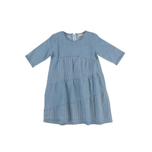 DENIM LAYERED  DRESS