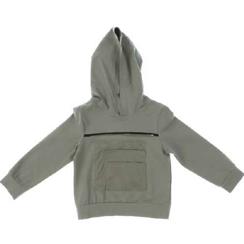 HOODED ZIPPER TEE