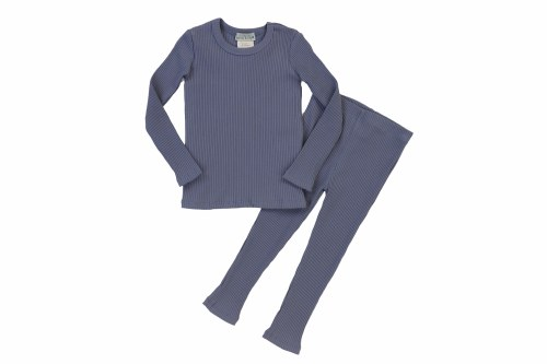 SOLID RIBBED PJS