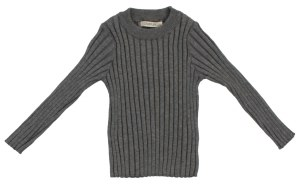 RIBBED CREW TOP