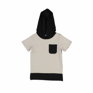 HOODED POCKET TEE