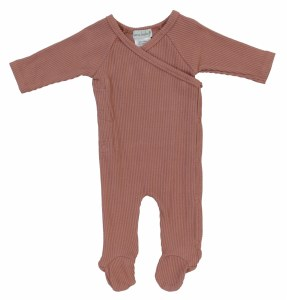 SIDE SNAP RIBBED FOOTIE