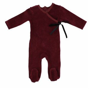 VELOUR WRAP FOOTIE