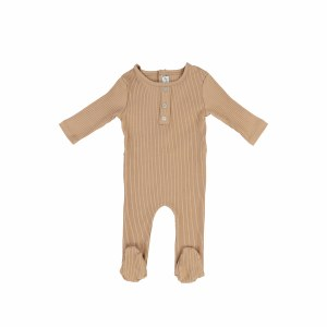 RIBBED BUTTON FOOTIE