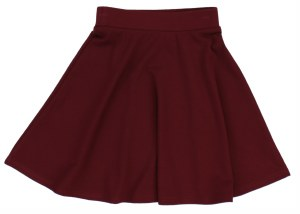 THIN RIBBED ALINE SKIRT