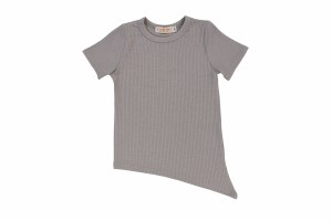 RIBBED ASYMMETRICAL TEE