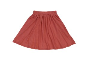 RIBBED FLARE SKIRT