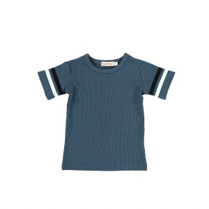 RIBBED STRIPE SLEEVE TEE