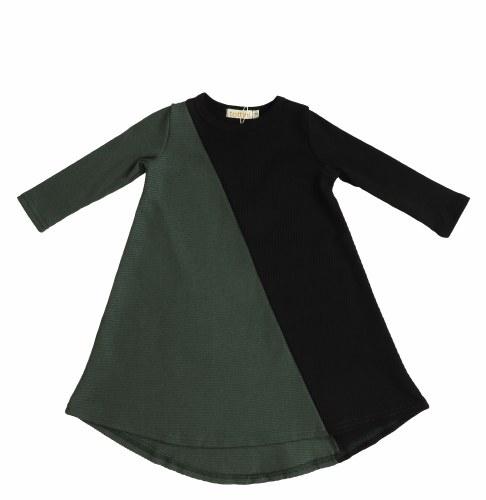 RIBBED HALF HALF DRESS