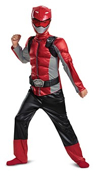 Power Rangers Beast Morphers Red Ranger Deluxe Muscle Child Costume