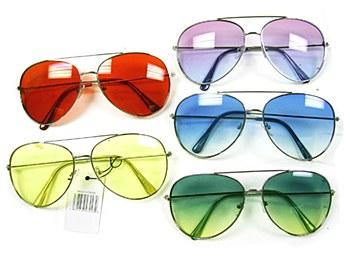 Aviator Color Lens Sunglasses