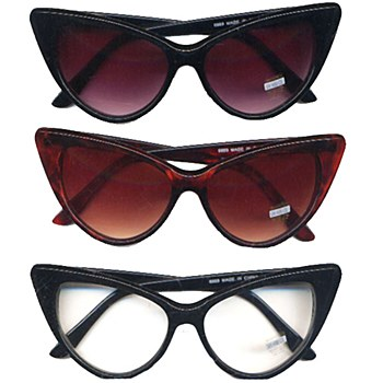 Cat Eye Horn Rimmed Sunglasses