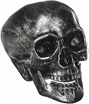 "Metallic Silver 8"" Skull"