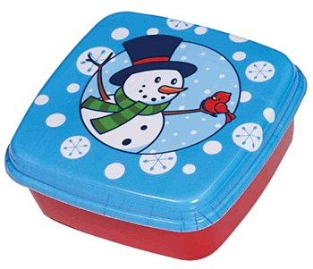 Christmas Sqaure Assorted Containers
