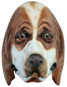 Basset Hound Dog Latex Mask