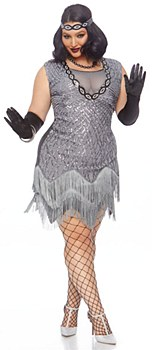 Roaring Roxy Flapper Adult Plus Costume