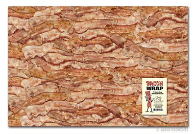 Bacon Print Gift Wrap