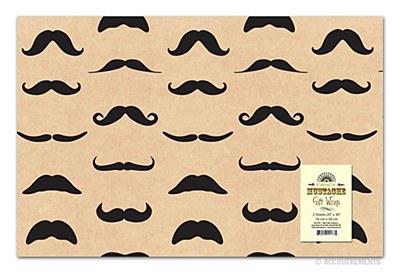 Moustache Print Gift Wrap