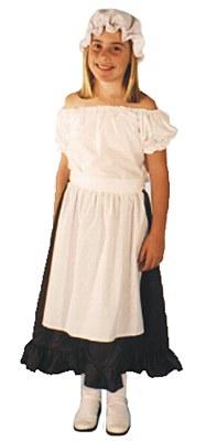 Full Length Child Ruffled Brown Skirt