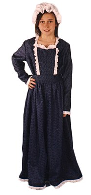 American Period Girl Child Costume