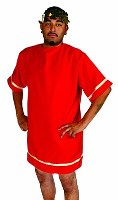 Roman Short Red Adult Toga / Tunic