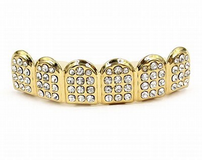 Hip Hop Gold Diamond Upper Grill