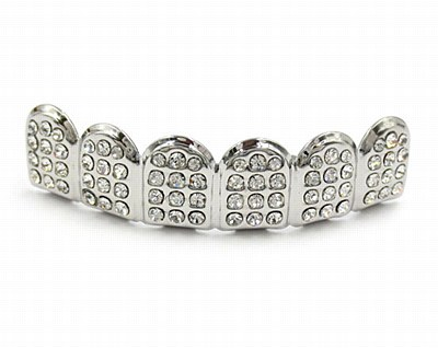 Hip Hop Silver Diamond Upper Grill
