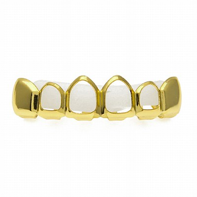 Hip Hop Gold Upper Grill Caps
