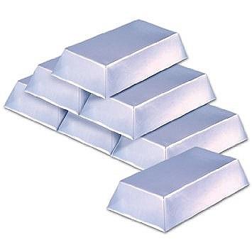Silver Bars Plastic Prop
