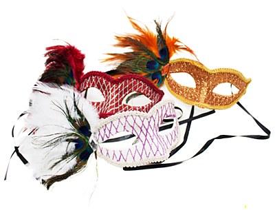 Mardi Gras Voules Eye Mask