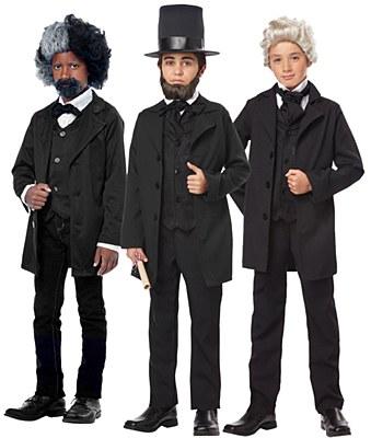 Frederick Douglass / Abraham Lincoln / Andrew Jackson Child Costume