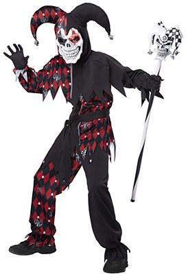 Sinister Jester Child Costume