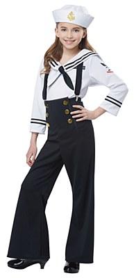 Navy Sailor Girl Child Costume